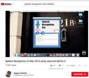 SpeechRecognition chatbot mac