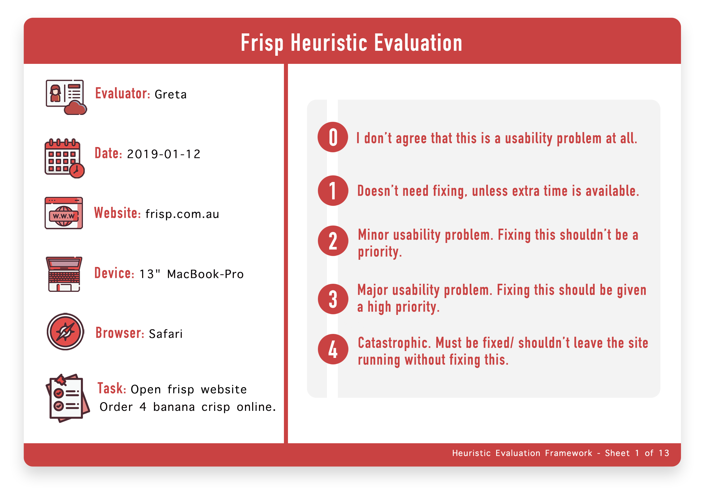 Heuristic evaluation page 1